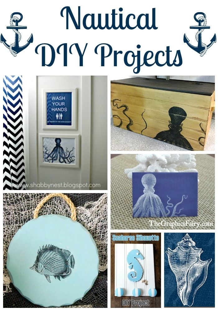 18 Nautical Diy Projects Graphics Fairy Pinterest Nautical