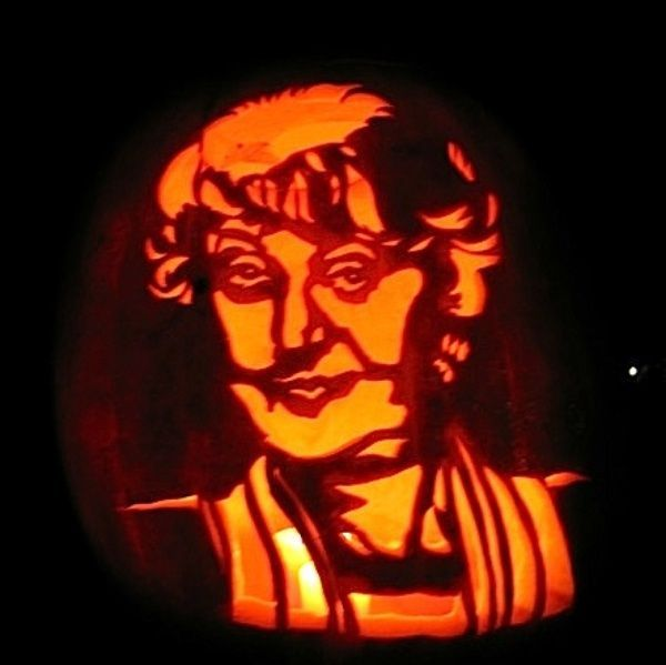 Feminist pumpkin jack-o-lantern 1. The Pill – Honor the pregnancy-free Halloween hook up with this simple pumpkin design. All you need to do is pour yourself a drink and carve a...