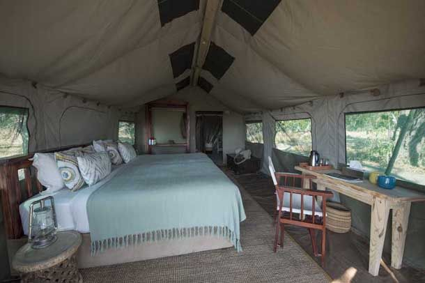 Glamping in the Linyanti - Gomoti Tented Camp
