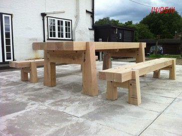 Garden table - traditional - outdoor stools and benches - london - by colin stevens