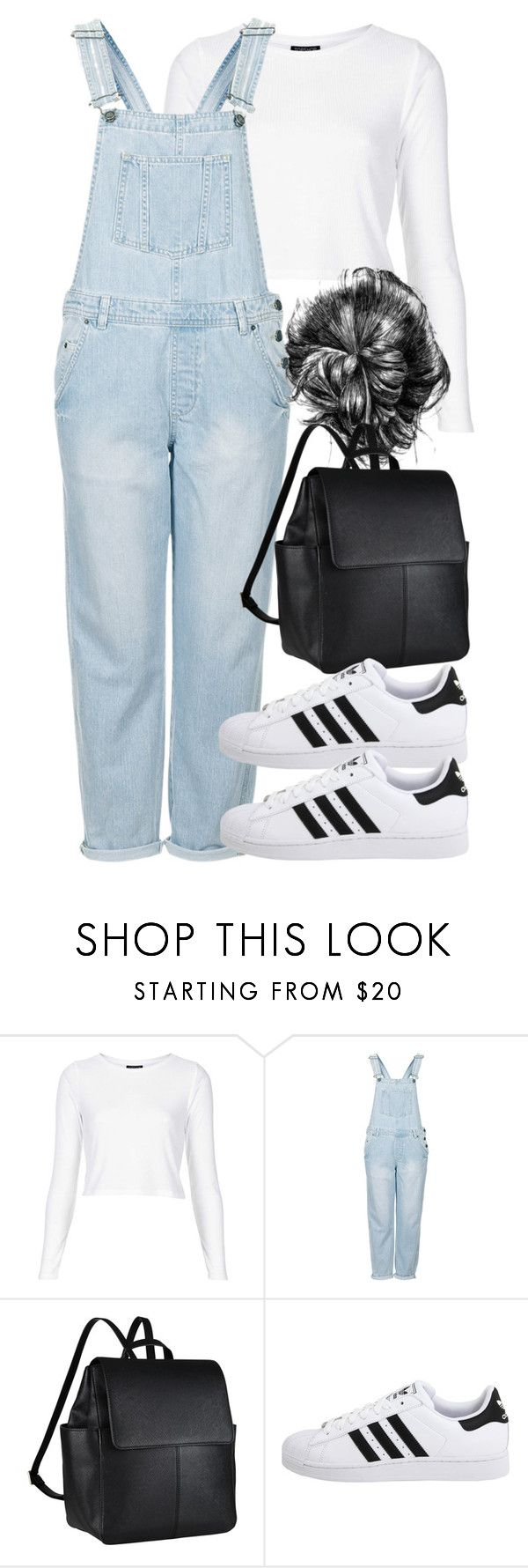 """""""Untitled #3673"""" by wallenbergnikki ❤ liked on Polyvore featuring Topshop, John Lewis and adidas Originals"""