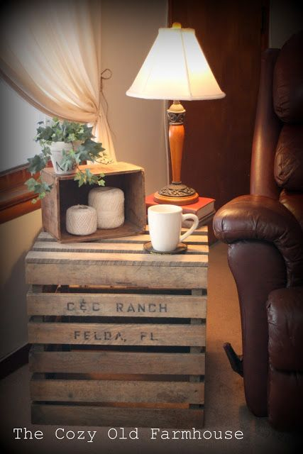 Tuesday's Farmhouse Fancy - Vintage Crates