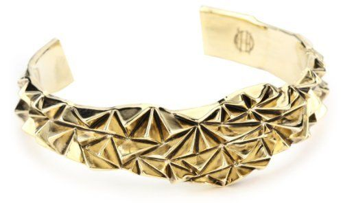 House of Harlow 1960 Gold-Plated Rocky Mountain Cuff Bracelet House of Harlow 1960. $110.00. Keep away from water. Clean with dry cloth. Perfect for stacking Made in CN. Perfect for stacking. Features pyramid texture. Made in China