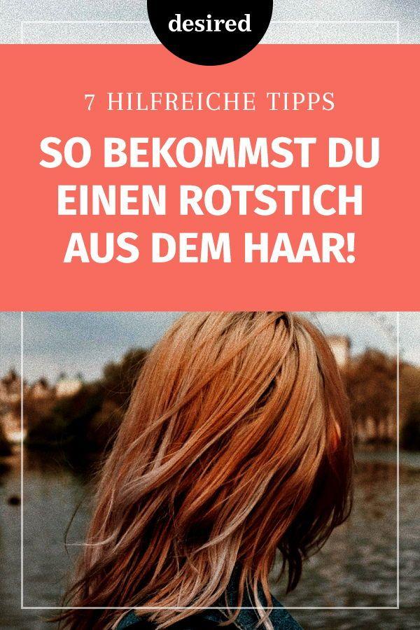 Rotstich aus braunen haaren rausbekommen