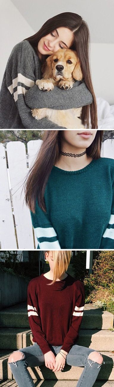 The striped knitted top is BACK!!!! Open your arms and embrace the world! Find this at CUPSHE.com