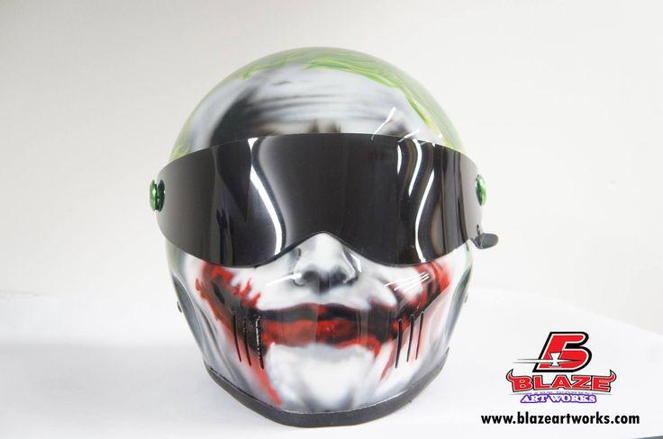 Custom Airbrushed Motorcycle Helmets by Blazeartworks