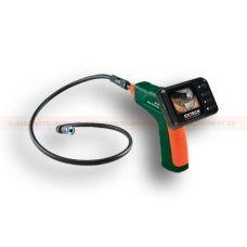 """http://handinstrument.se/inspektionskamera-r322/inspektionkamera-med-17mm-kameragivare-och-2-4-53-BR100-r325  Inspektionkamera med 17mm kameragivare och  2,4  Kamerahuvud 17mm i diameter med 1m (39 """") flexibel svanhalssond som behåller konfigurerad form  Vattentät (IP67) kamerahuvud i miniformat för högupplöst visning  Två ljusa LED-lampor med dimmer för att belysa visat objekt  Bländfri närbild av synfält  Löstagbar display för praktisk förvaring  Tillval 53-BR200-EXT..."""
