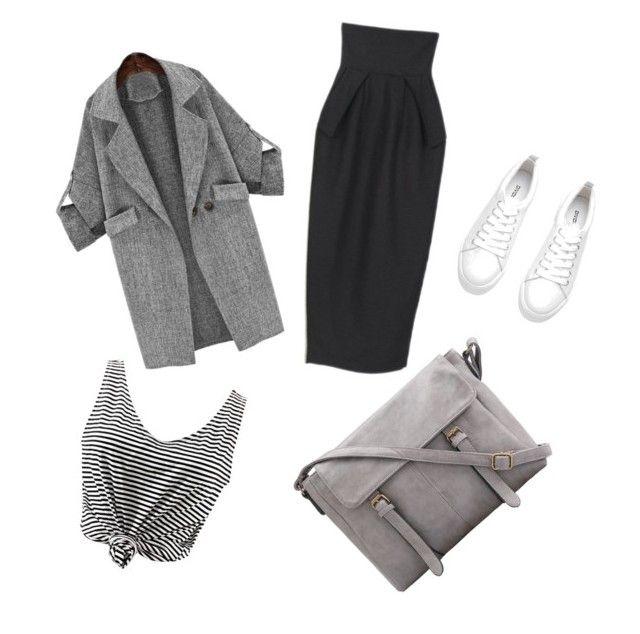 """grey"" by citrarizkiamalia on Polyvore"