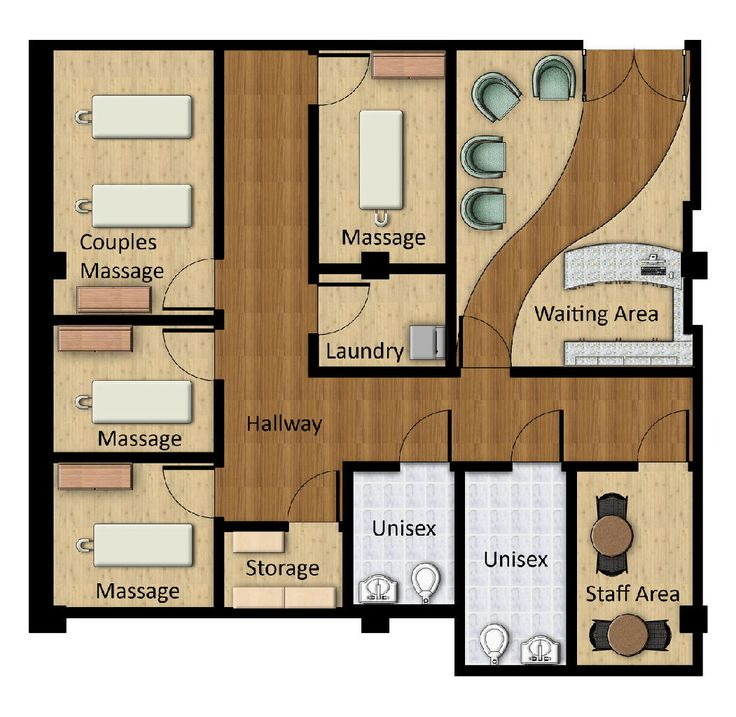 Massage Spa Floor Plans | ... plan this is a rendered floor plan of the spa i provided three massage