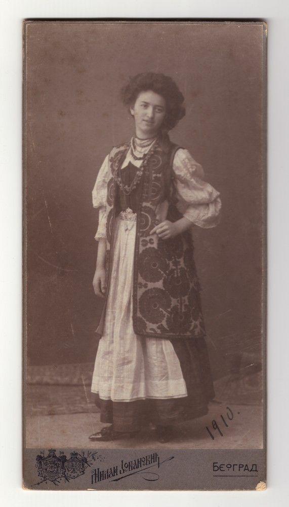 Studio portrait of a young woman wearing a 'zubun', © Museum of Applied Art