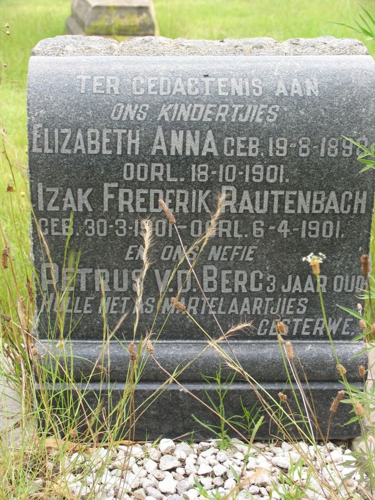 Heilbron - hulle het as martelaars gesterf. Two siblings and cousin in one grave.
