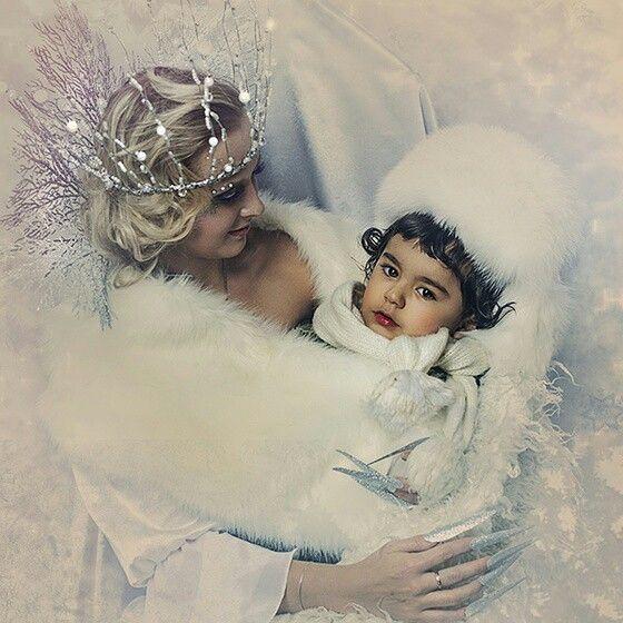 Snow queen hug kay kai  frozen fur coat