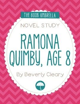 Ramona Quimby, Age 8  This is a novel study for Ramona Quimby, Age 8 by Beverly Cleary. 32 pages of work for students, plus an answer key!  This novel study divides Ramona Quimby, Age 8 into six sections for study. The chapters are grouped as follows: Chapter 1, 2, 3, 4-5, 6-7, 8-9.