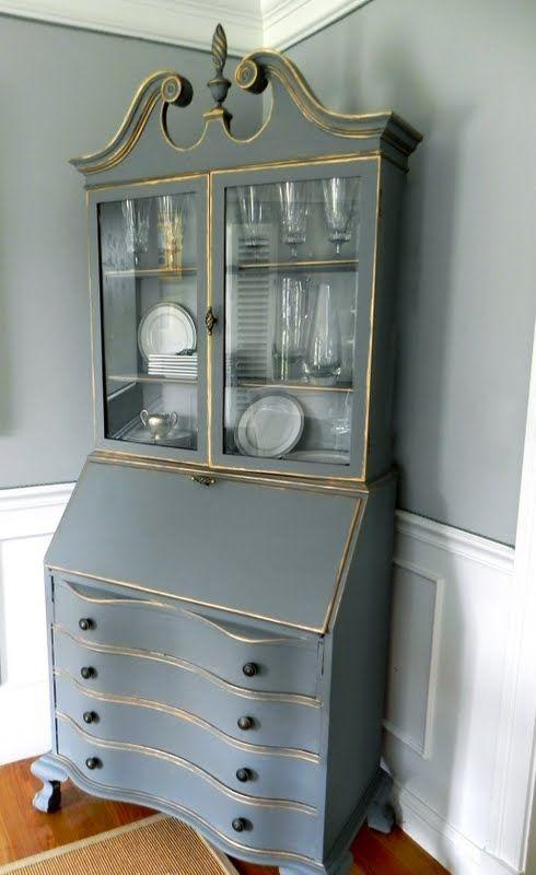 best 25 secretary desks ideas on pinterest painted secretary desks antique secretary desks. Black Bedroom Furniture Sets. Home Design Ideas