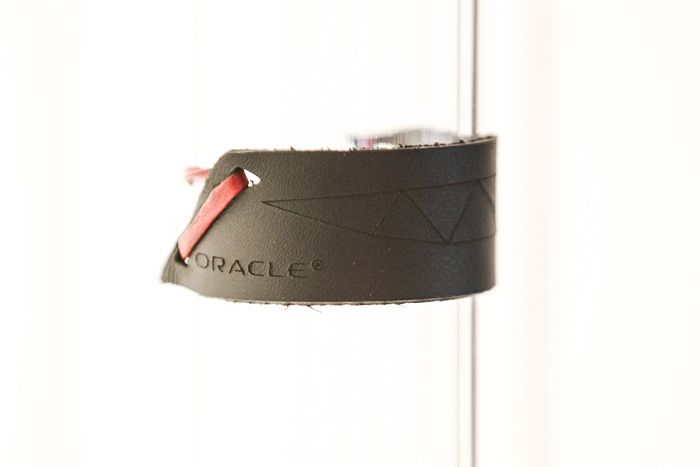 To analyze voice patterns, organizers used a custom app that was built on stack code which utilized two Oracle products: Java and MySQL. The end product was a branded leather bracelet with a laser-cut design.