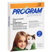 Program Oral Suspension 0-10 lbs Cats (Orange) 6 Ampules