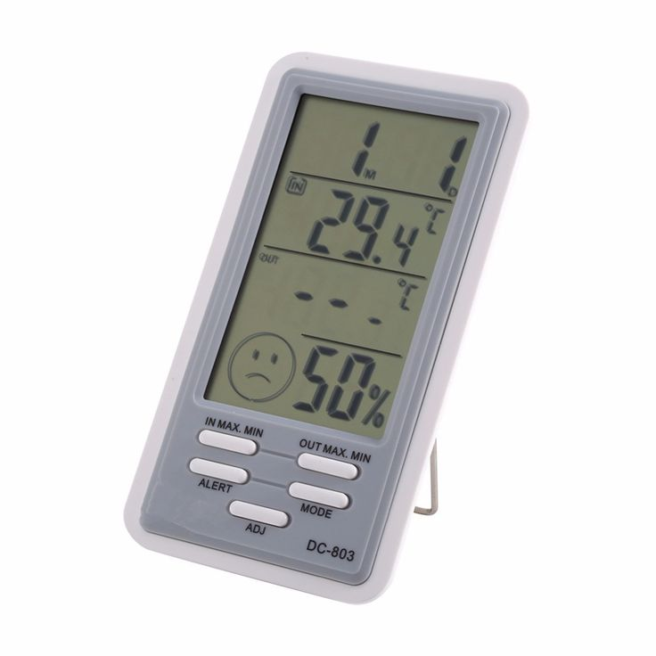 1PCS Alarm Function ABS Large LCD Screen Digital  Indoor Outdoor Clock Thermometer Hygrometer Humidity Clock Temperature meter
