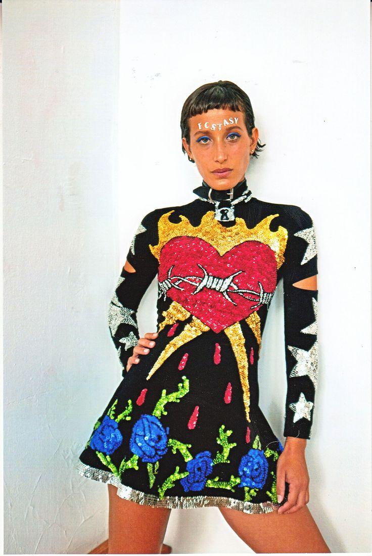 joan of arc long sleeve dress, joan of arc dress, long sleeve sequinned dress, sequinned long sleeve dress, sequinned dress, joan of arc, sacred heart dress, heart dress, heart and roses dress, barbedwire heart, sequins, sequinned dress, ashanti sequinned dress, du, discount universe, di$count universe