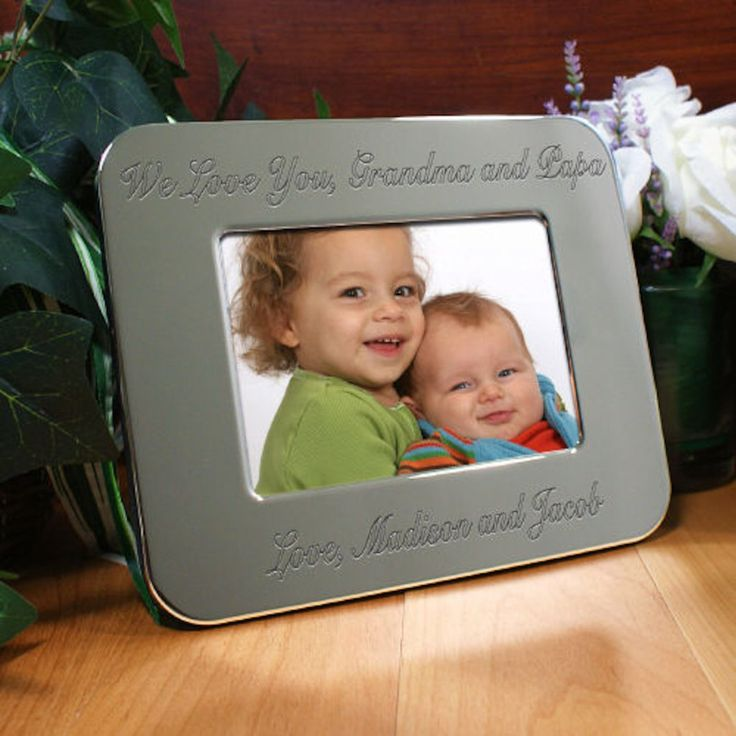 Personalized Custom Message Silver Picture Frame - Gifts Happen Here