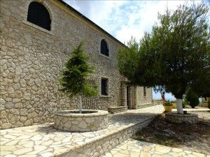 """Pantocrator Monastery - Built on the highest peak of the island, 914 metres. The mountain is named """"Pantocrator"""" after the first church that was built there in the 14th Century."""