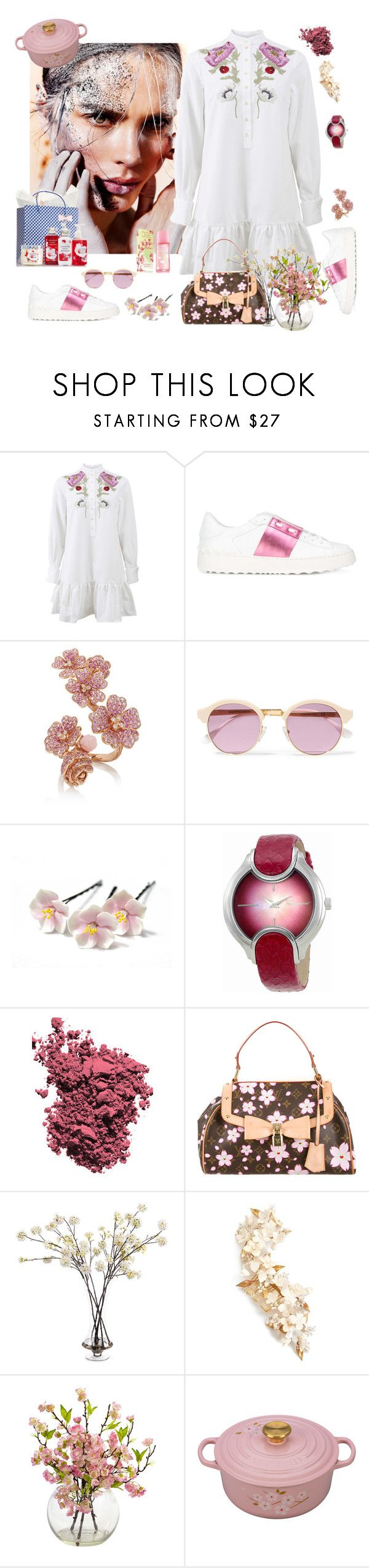 """""""CHERRY SPRINGer"""" by juliabachmann ❤ liked on Polyvore featuring Alexander McQueen, Valentino, Sheriff&Cherry, Salvatore Ferragamo, Elizabeth Arden, Christian Dior, Louis Vuitton, John-Richard, Twigs & Honey and Nearly Natural"""