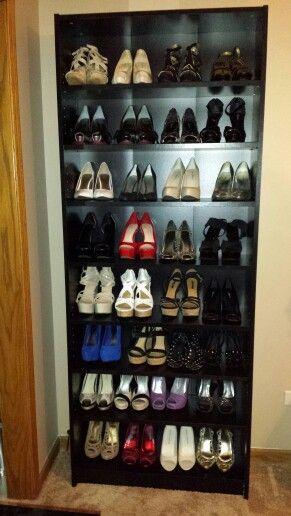 Shoe Organization Storage Rack Billy Bookshelf With