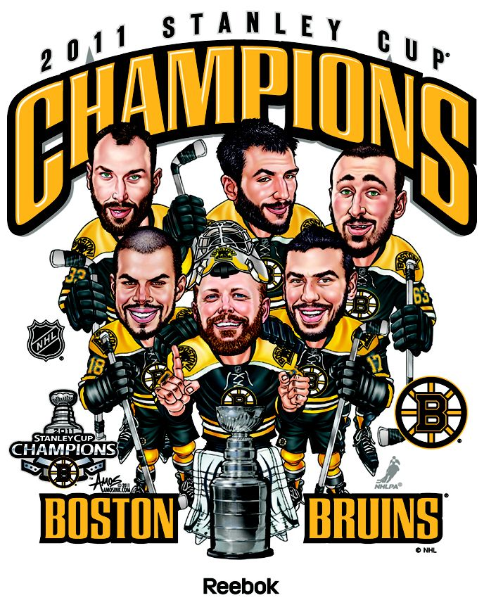 Adidas, Boston Bruins Champs Caricature