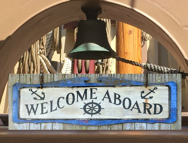 Welcome Aboard, Metal Art Print or Sign, Gift, 4″x12″, Boat, Ship, Yacht Decor, …