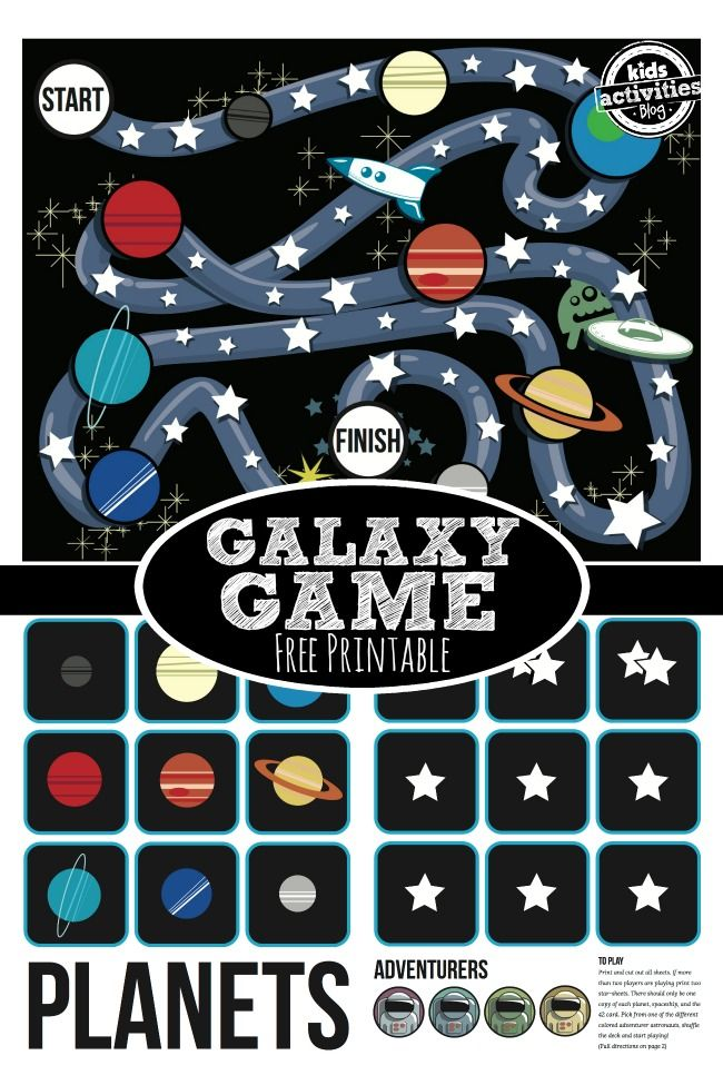 {Stars and Planets} Free Printable Game #planets #galaxy #homeschool: