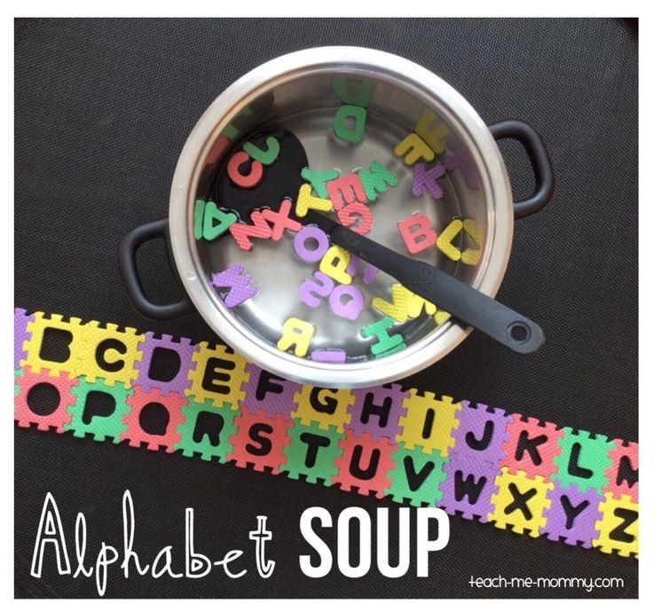 Fun alphabet soup literacy activity