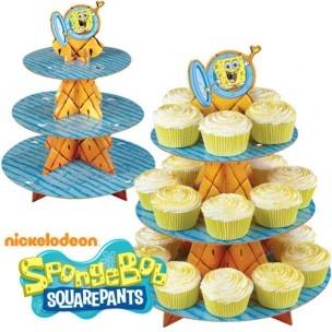 Het wordt altijd een geslaagd feestje met de Spongebob SquarePants cupcake standaard van Wilton