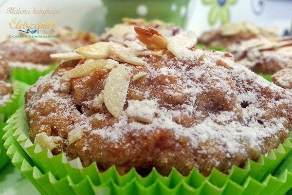 Almás-mandulás muffin glutén-, tej- és tojásmentesen