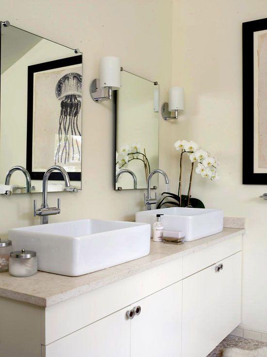 Double Bathroom Vanities - Cool and Calm
