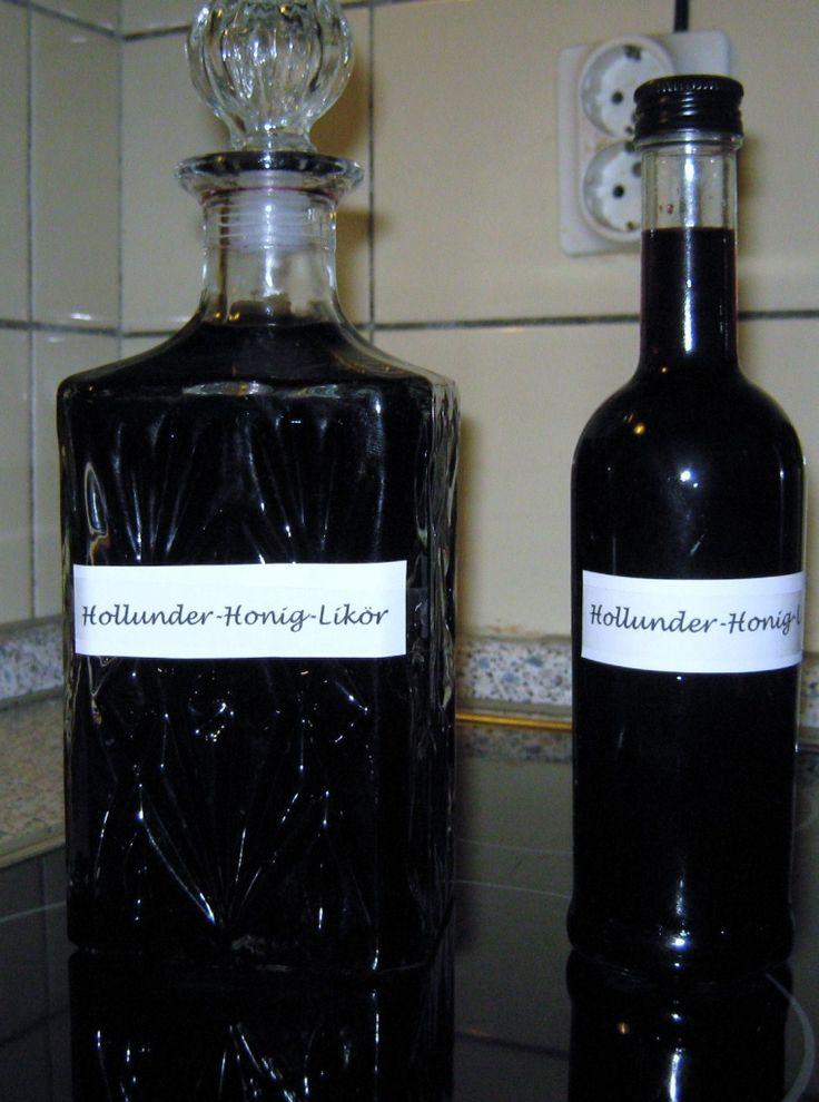 Holunder-Honig-Likör Rezept