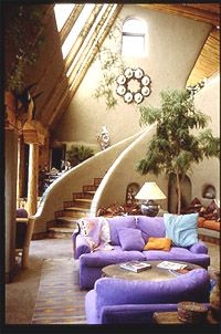 dennis weaver's earthshipEarth Ship, Living Rooms, Cob Home, Stairs, Cob House, Dreams House, House Interiors, Earthship, Dennis Weaver