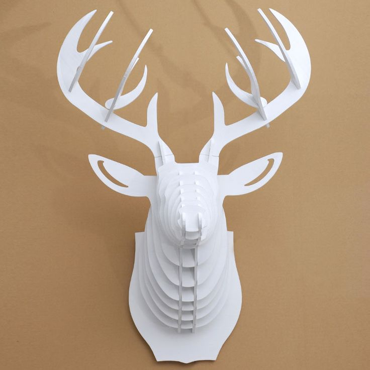 White Deer Head Wall Decor 13 best wooden deer head puzzles wall decoration images on