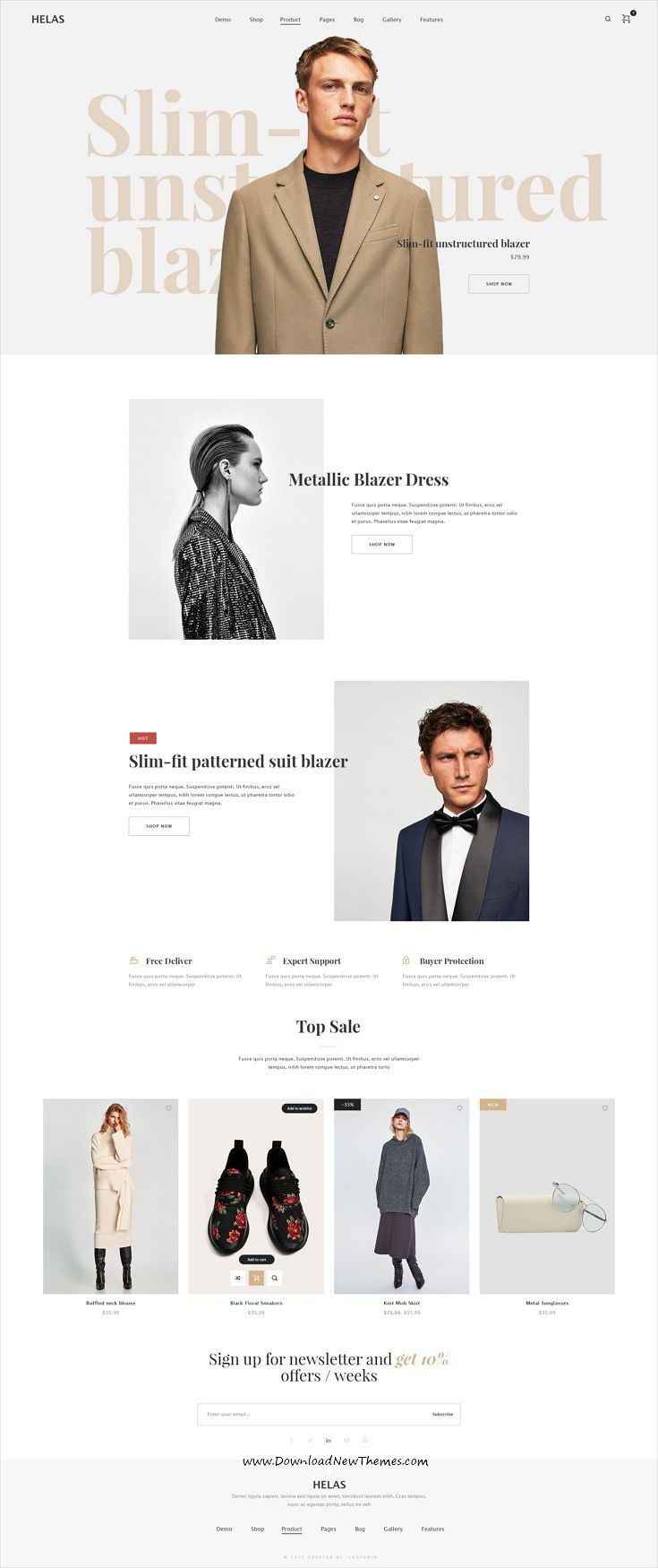 Speed is clean and modern design #PSD template for stunning #fashion store #eCommerce website with 16 unique homepage layouts and 48 layered PSD pages to live preview & download click on Visit