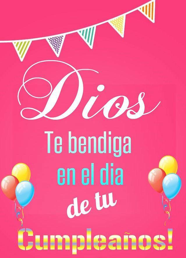Dios Te bendiga en el día de tu Cumpleaños!