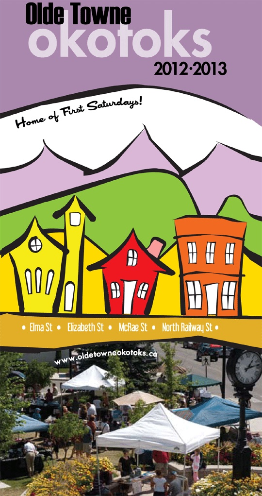 Olde Town Okotoks: gift shops, cafe's, restaurants, historic buildings & more