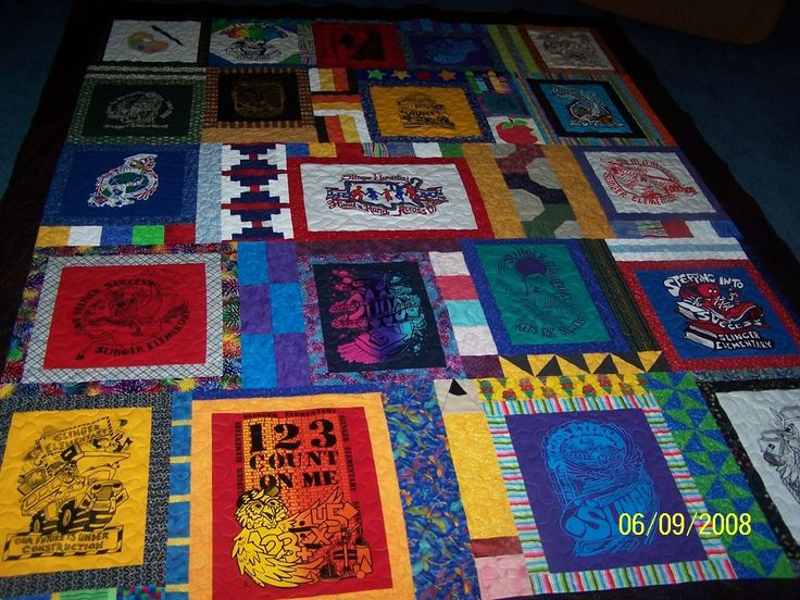 T-Shirt Quilt Ideas | More information about T Shirt Quilt Patterns on the site: http://www ...