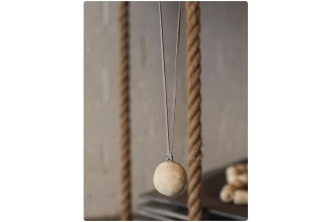 Ball wooden necklace by fabrikate studio on hellopretty.co.za