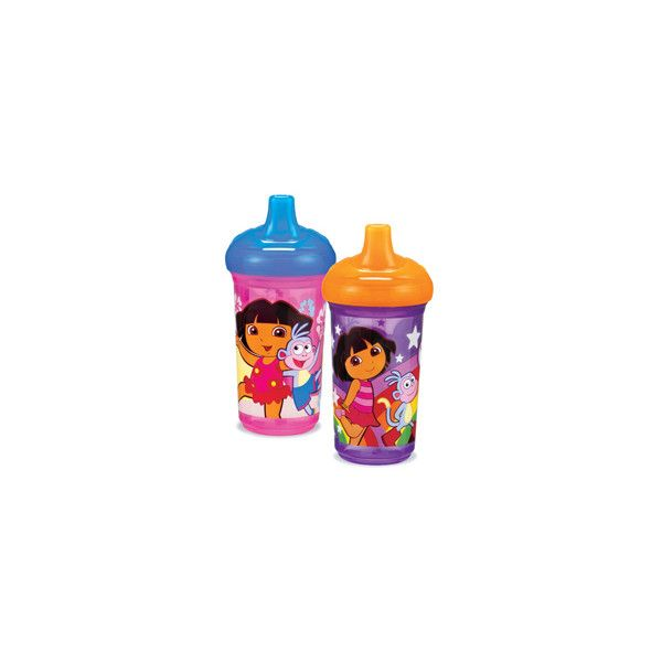 Dora the Explorer 9oz. Spill-Proof Cup- 2pk - babyearth.com (56 SEK) ❤ liked on Polyvore featuring bottles and sippy cups