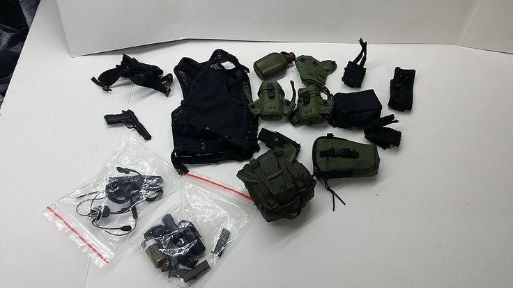 1/6 Dam Toys US Army Delta Force Sergeant First Class vest+belt+harness+Pistol #Damtoys