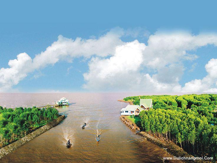 Đất Mũi nhìn từ đài quan sát Vọng Lâm Đài