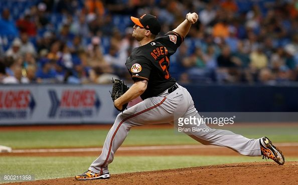 News Photo : Alec Asher of the Baltimore Orioles pitches...