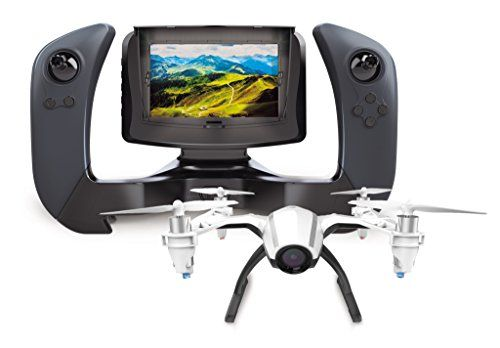 EASY TO FLY: Headless Mode eliminates need to adjust aircraft position before flight. High/Low Speed Mode makes this a great choice for beginners; FAA Registration NOT Required FIRST PERSON VIEW: Drone and controller sync instantly to display FPV live feed on 4in LCD screen HD CAMERA: Capture pristine aerial videos and photos in 720P high definition on 4GB Micro SD, 120º wide angle format . . . read more . . . pls repin