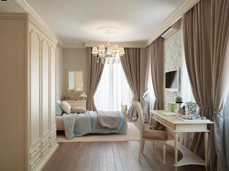 Interior Brown Color In Traditional Bedroom And Modern Curtain Ideas Master  Bedroom Home Decorating Ideas With