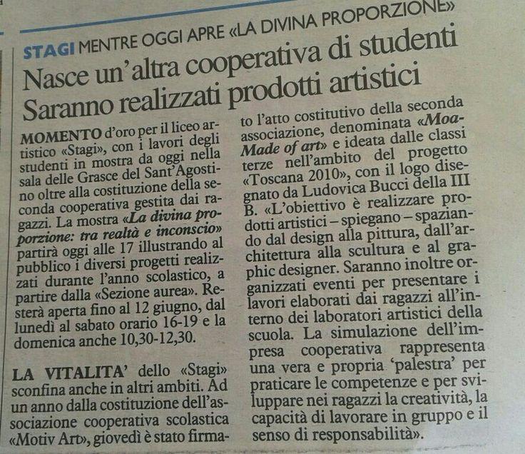 Liceo artistico Stagi: nasce MOA la cooperativa artistica degli studenti!