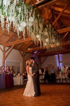Wisteria Hanging Flowers With Lanterns Over Dance Floor! Twilight Wedding Inspired!