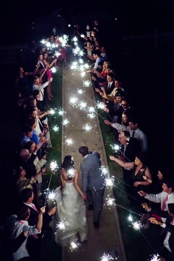 Wedding Photography - Sparkler exit